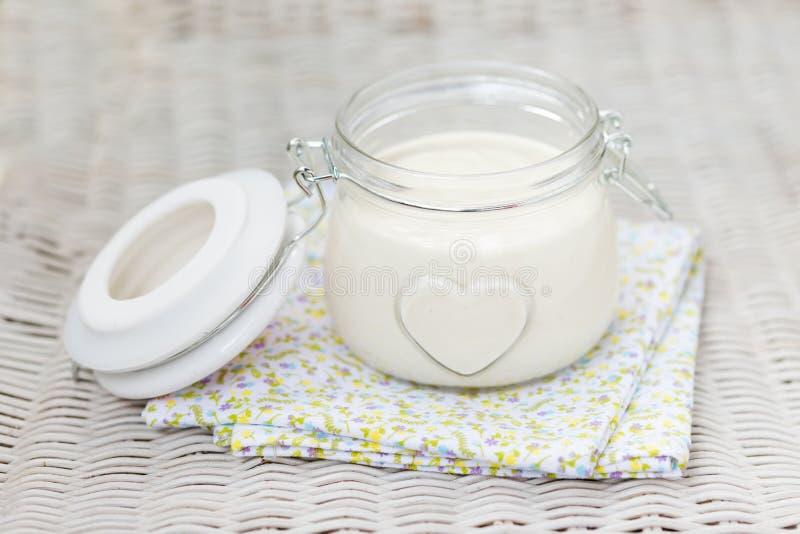 Weganinu eggfree diy domowej roboty mayonaise zdjęcia stock