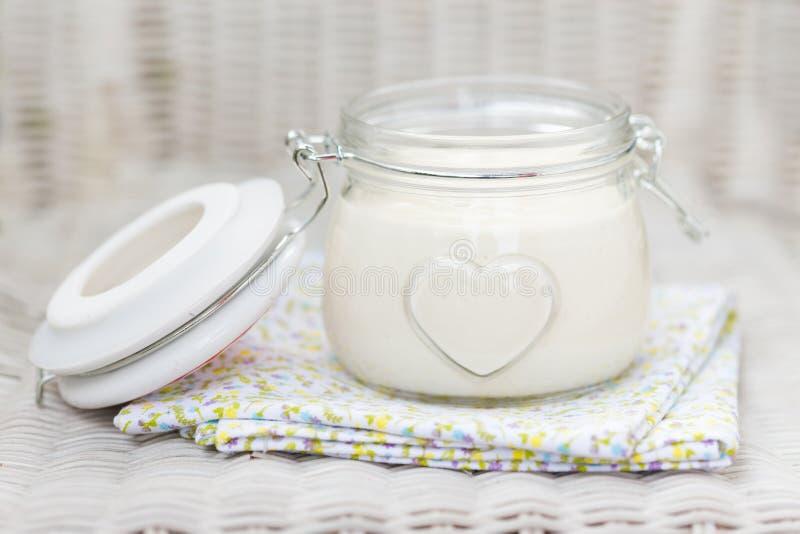 Weganinu eggfree diy domowej roboty mayonaise zdjęcie stock
