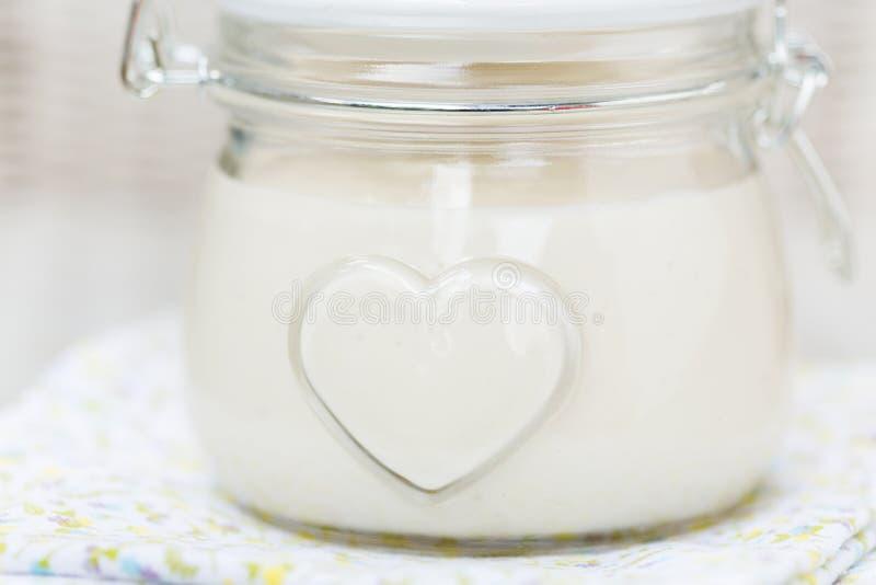 Weganinu eggfree diy domowej roboty mayonaise zdjęcie royalty free