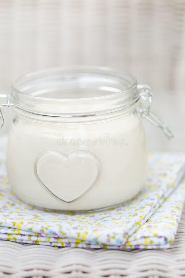 Weganinu eggfree diy domowej roboty mayonaise fotografia royalty free