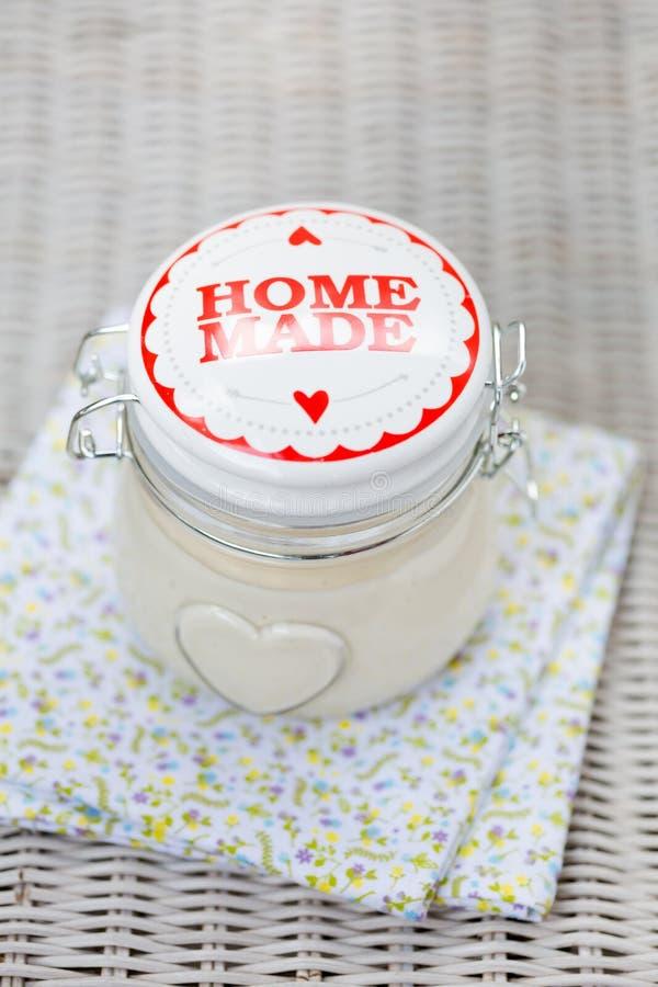 Weganinu eggfree diy domowej roboty mayonaise zdjęcia royalty free