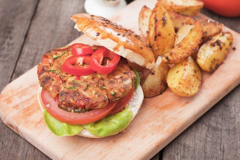 Weganinu hamburger zdjęcie royalty free