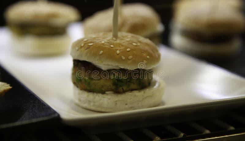 Weganinu hamburgeru tofu fotografia royalty free