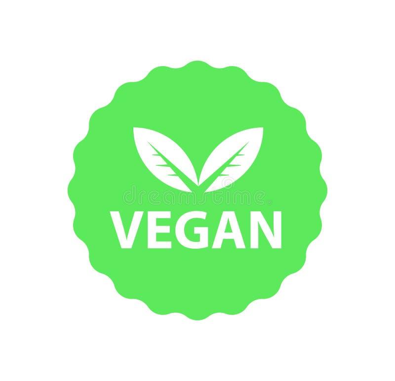 Weganinu logo, organicznie życiorys logowie lub znak, Surowe, zdrowe karmowe odznaki, etykietki ustawiają dla kawiarni, restaurac royalty ilustracja