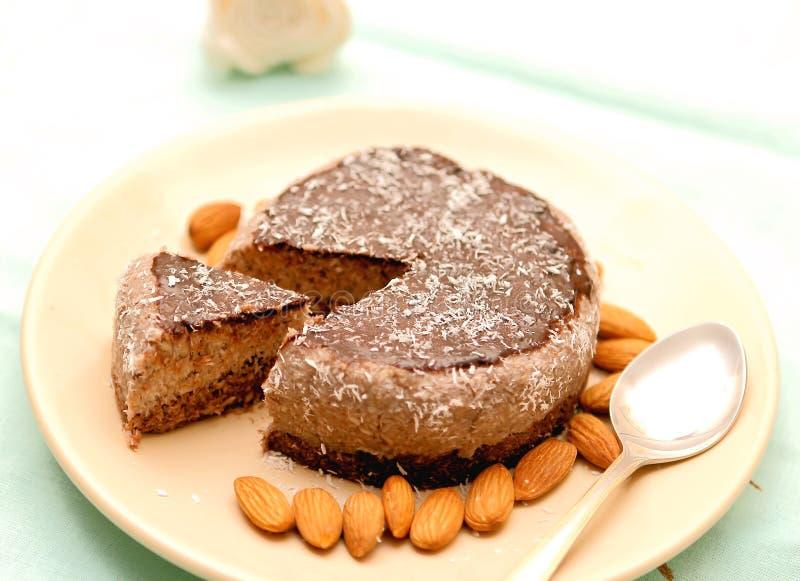 Weganinu surowy tort zdjęcia stock