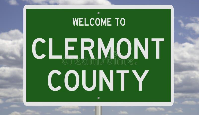 Wegbord voor Clermont County royalty-vrije stock afbeelding