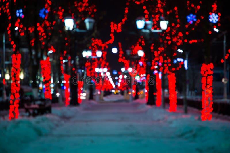 Wege auf einer Nachtgasse lizenzfreies stockbild
