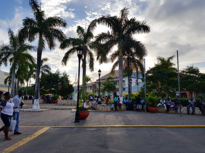 Wege durch die Straßen von Jamaika stockfotografie