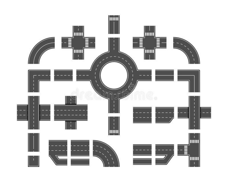 Wegelementen royalty-vrije illustratie