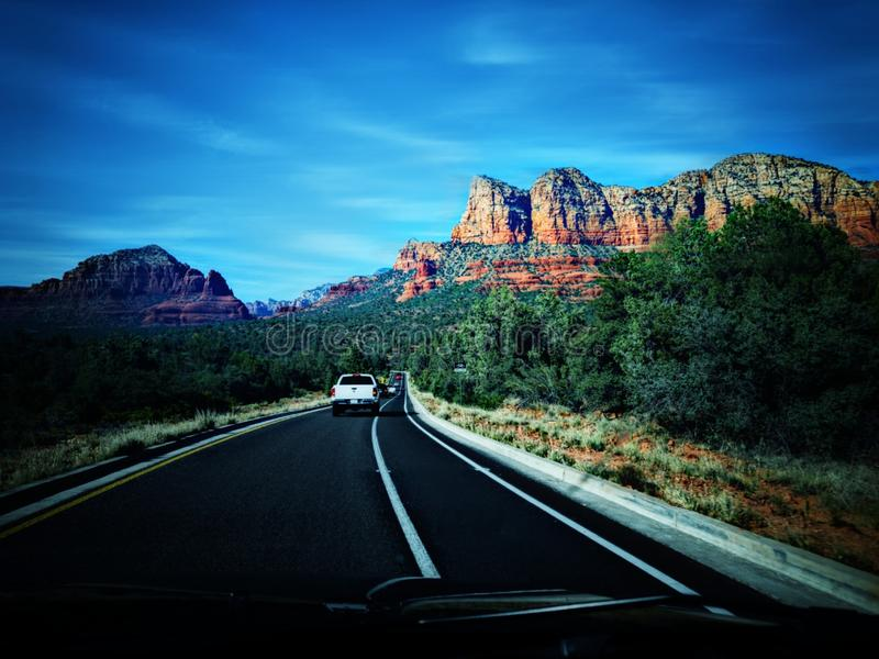 Wegen in Arizona royalty-vrije stock foto