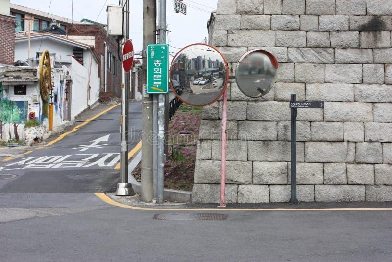Wegen en straten in Seoel Stadsinfrastructuur in Zuid-Korea stock fotografie