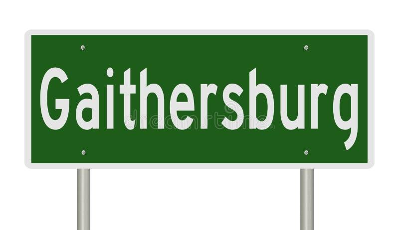 Wegenbord voor Gaithersburg royalty-vrije illustratie