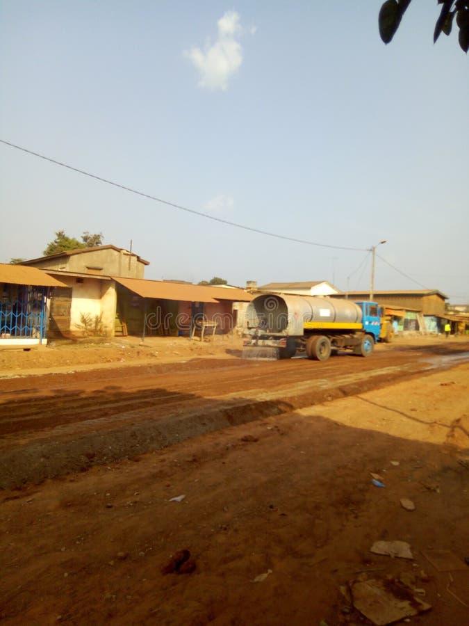 Wegenbouwproject in Afrika stock fotografie