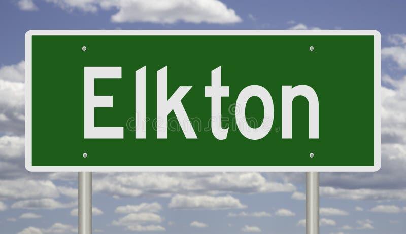 Wegenteken voor Elkton stock fotografie