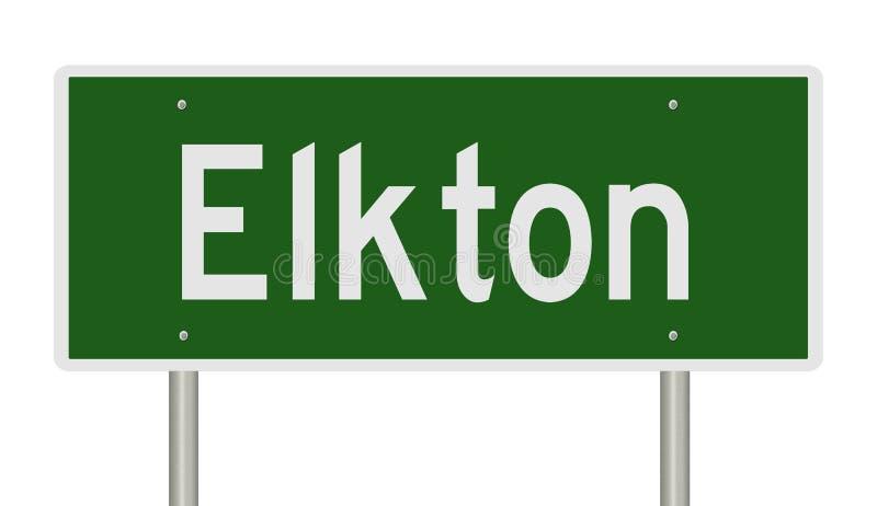 Wegenteken voor Elkton stock illustratie