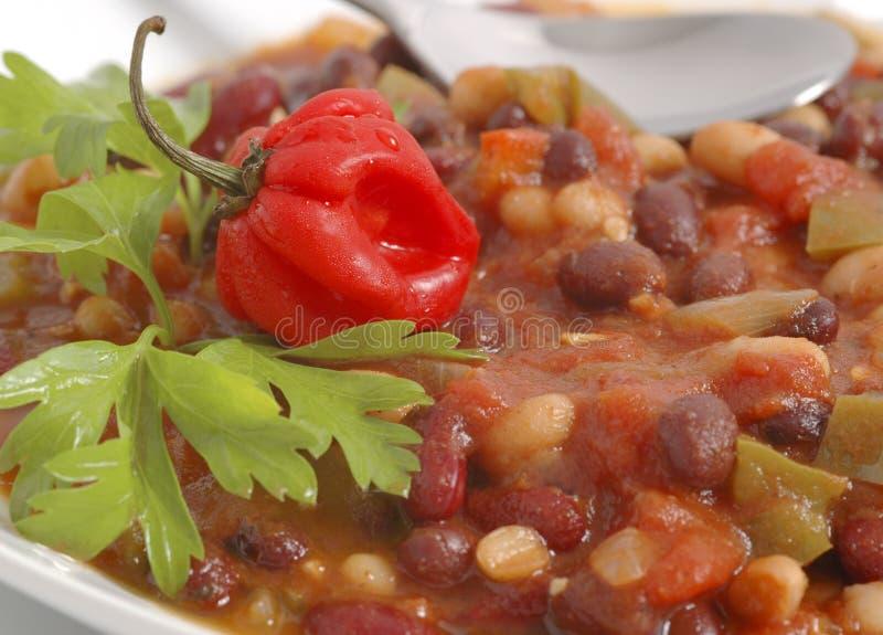 wegetarianin chili fotografia stock