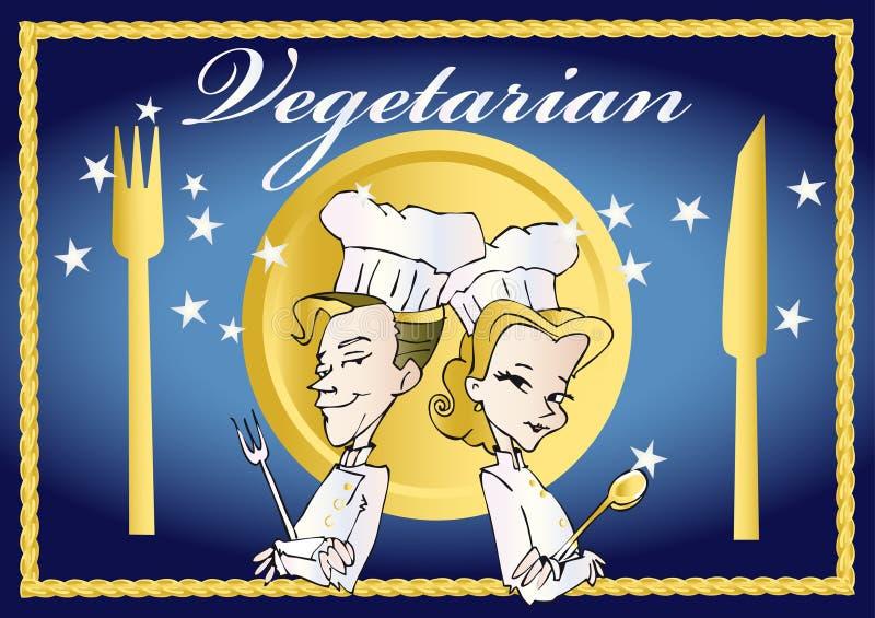 wegetarianin weganinu serii royalty ilustracja