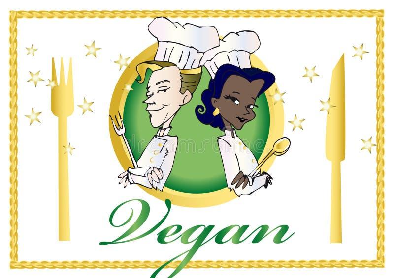 wegetarianin weganinu serii ilustracja wektor