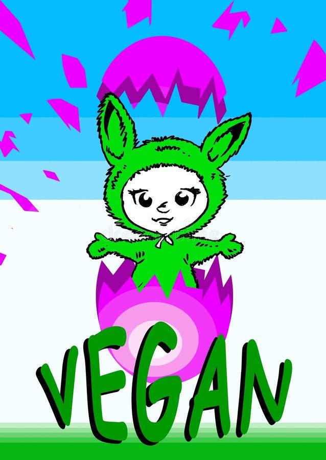 wegetarianin weganinu wielkanoc serii ilustracja wektor