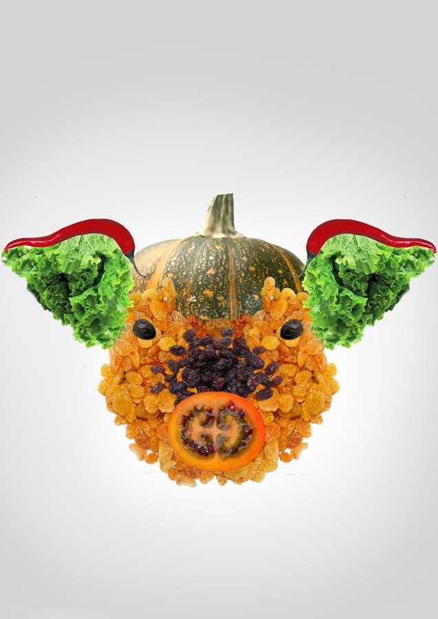 wegetarianizm Zamieniać zwierzęcej karmowej rośliny ilustracja wektor