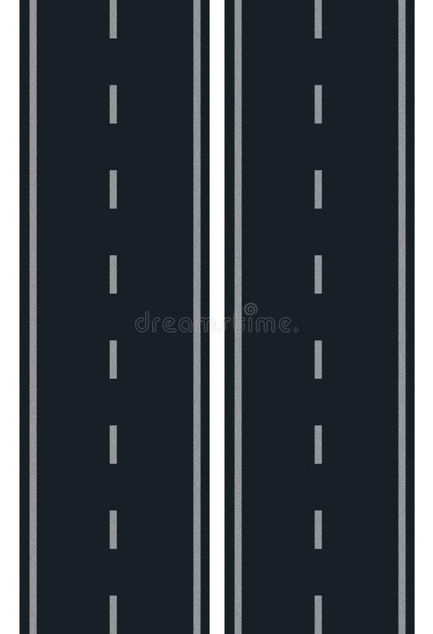 Wegillustratie op een witte achtergrond vector illustratie