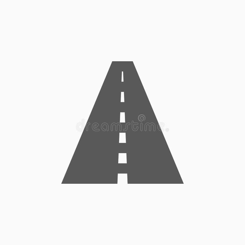 Wegpictogram, straat, rijweg, reis royalty-vrije illustratie