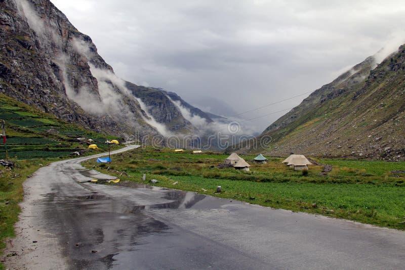 Wegreis aan Leh ladakh stock afbeeldingen