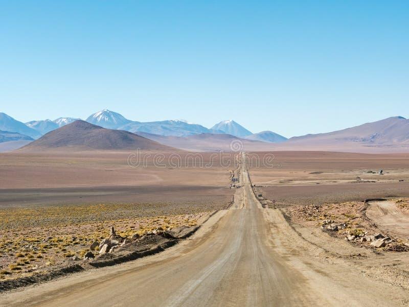 Wegreis in de Andes stock afbeeldingen