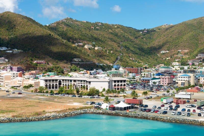 Wegstad, Tortola stock afbeelding