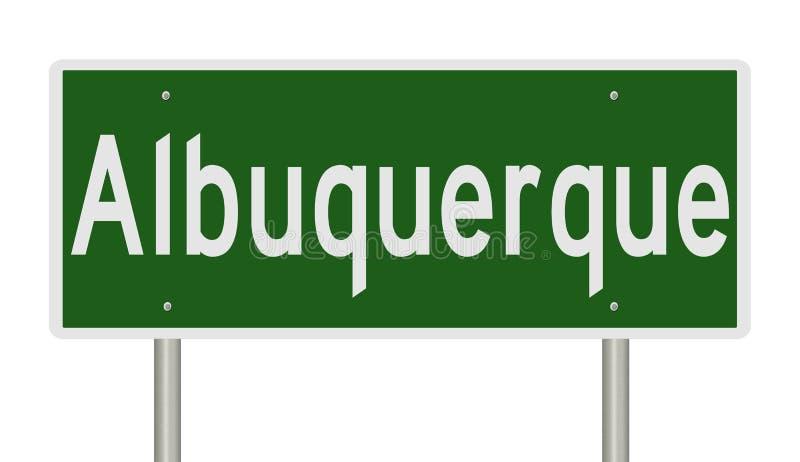 Wegteken voor Albuquerque New Mexico vector illustratie