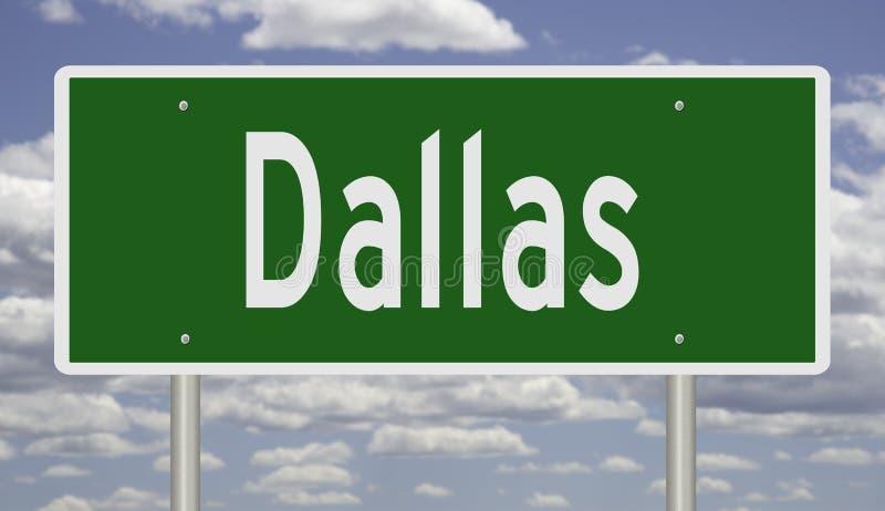 Wegteken voor Dallas Texas stock foto