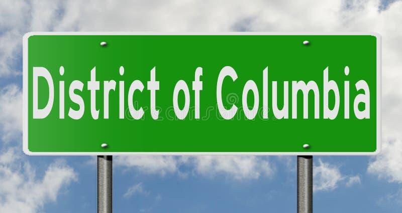 Wegteken voor District van Colombia vector illustratie