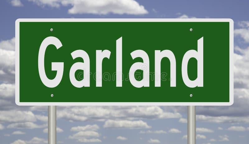 Wegteken voor Garland Texas stock afbeeldingen