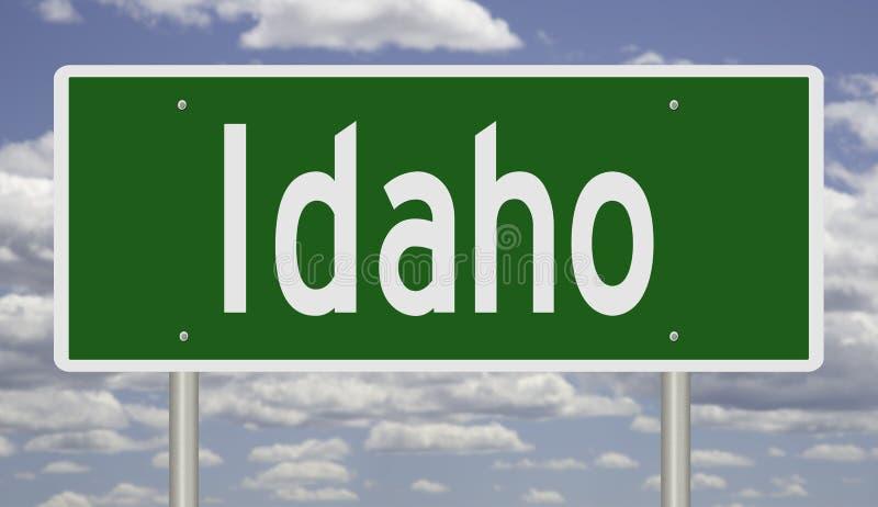 Wegteken voor Idaho royalty-vrije illustratie