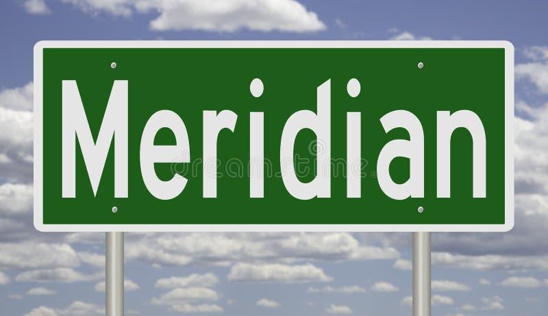 Wegteken voor Meridiaan royalty-vrije illustratie