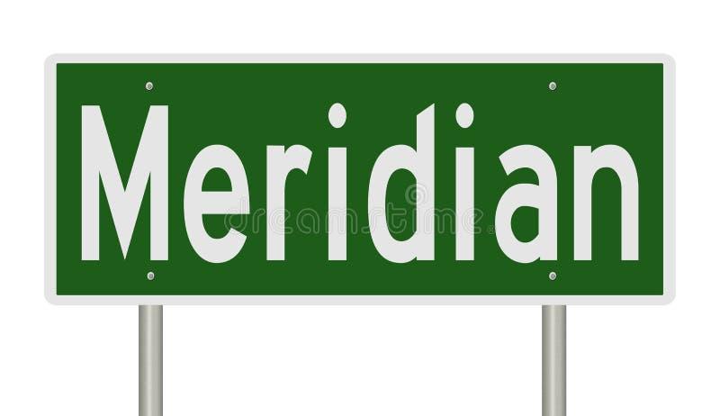 Wegteken voor Meridiaan vector illustratie