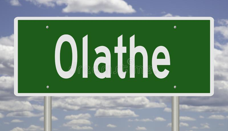 Wegteken voor Olathe Kansas royalty-vrije stock fotografie