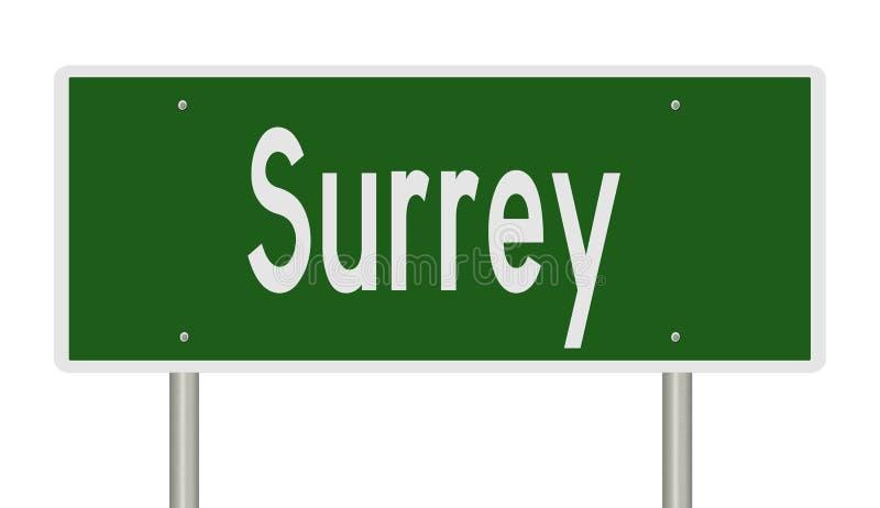 Wegteken voor Surrey stock illustratie