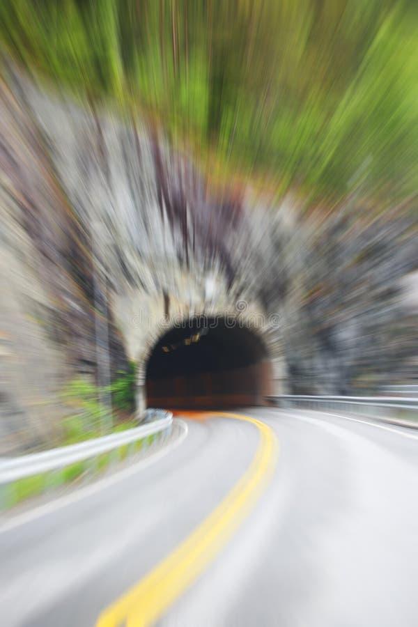 Wegtunnel in Noorwegen royalty-vrije stock afbeelding