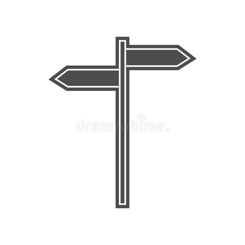 Wegweiser-Ikone Element von minimalistic f?r bewegliches Konzept und Netz Appsikone Glyph, flache Ikone f?r Websiteentwurf und En vektor abbildung
