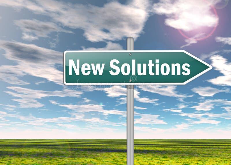 Wegweiser-neue Lösungen stock abbildung