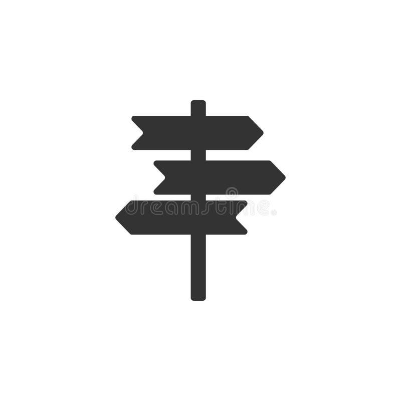 Wegweiserikonengrafikdesign-Schablonenvektor stock abbildung