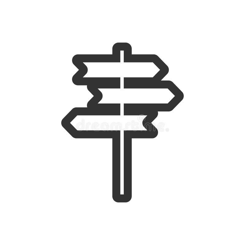 Wegweiserikonengrafikdesign-Schablonenvektor lizenzfreie abbildung