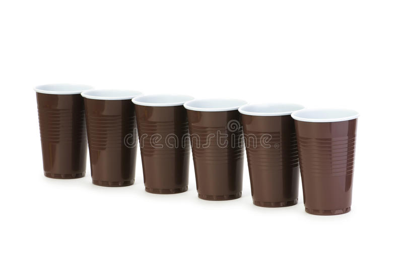 Wegwerfbare Cup getrennt stockfoto