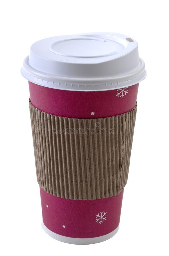 Wegwerfbare Kaffeetasse stockfoto