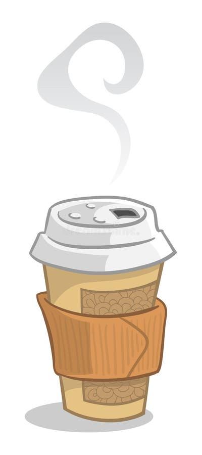 Wegwerfbare Kaffeetasse lizenzfreie stockbilder