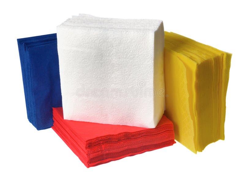 Wegwerfbare Papierservietten stockbild