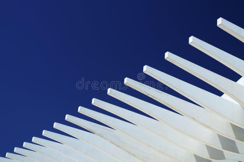 Weiß Auf Blau Stockbild