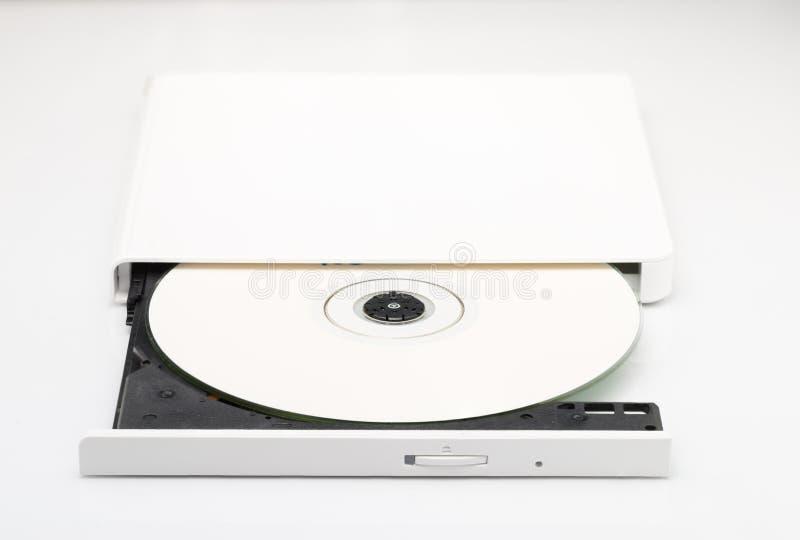 Weiß External-DVD-Laufwerk lizenzfreies stockbild