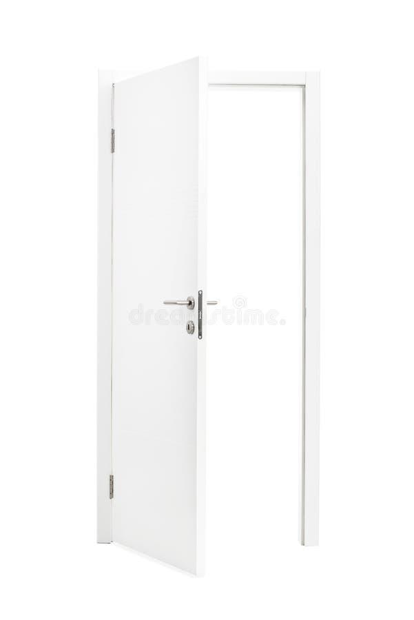 Geöffnete tür  Weiß Geöffnete Tür Lokalisiert Auf Weißem Hintergrund Stockfoto ...